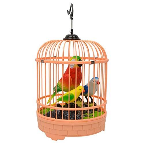 Mingtongli Color al Azar niños electrónicos interactivos Que Hablan Juguetes Animales para niños Juguetes Regalos de cumpleaños Simulación Jaula de pájaro de Jaula de grillos niños Birthdayr R