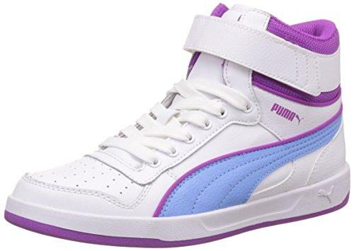 Puma - Liza Mid, Sneakers per bambine e ragazze, Bianco (Blanc (White/Little Boy Blue)), 37