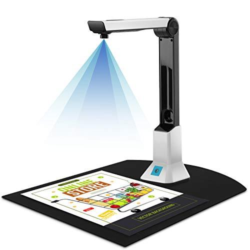 Dokumentenkamera-Scanner für Lehrer, tragbarer Buchscanner, Aufnahmegröße A4, 8 MP HD, professioneller Foto-Scanner für Dateierkennung, Computer, Klassenzimmer, Online-Klassen und Büro