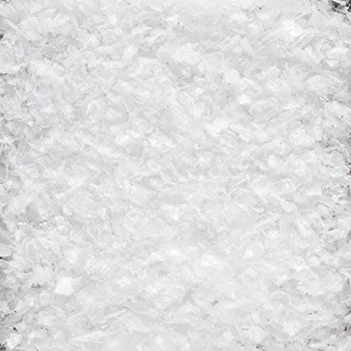 DEKOSCHNEE FEIN. 1 Liter. Kunststoff Schneeflocken Deko Schnee Kunstschnee. Weiss