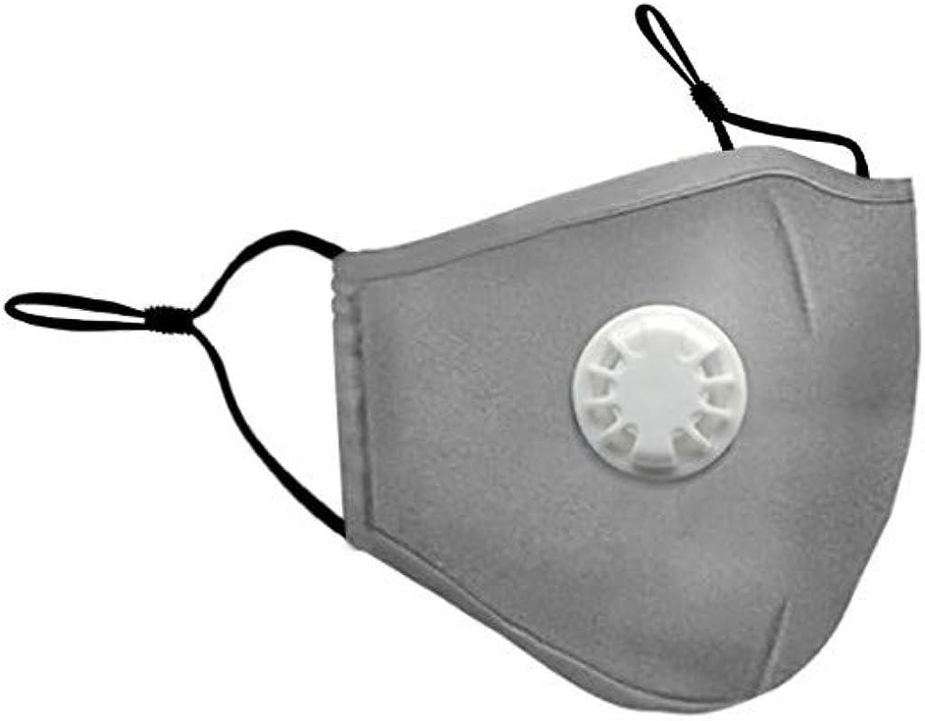Cara lavable M para adulto con paño de ventilación cara M sólido, taza polvo cara M w/elástico ajustable para protección de la boca al aire libre e interior
