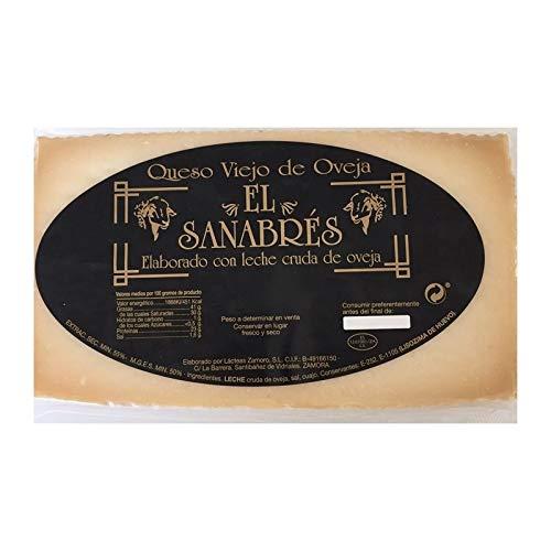 Medio queso Zamorano de El Sanabrés puro de oveja 1,5 kg. aproximadamente Elaborado con leche cruda de oveja.