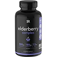 60-Count Sports Research Elderberry Capsules with Zinc & Vitamin C