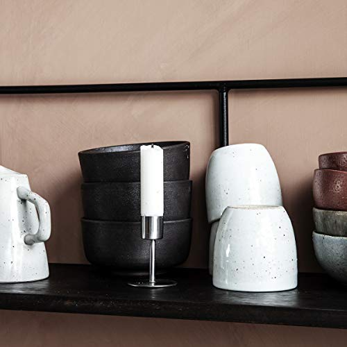 House Doctor Kerzenständer, Anit, Eisen, h: 7 cm, Dm: 5 cm, Messing, Silber