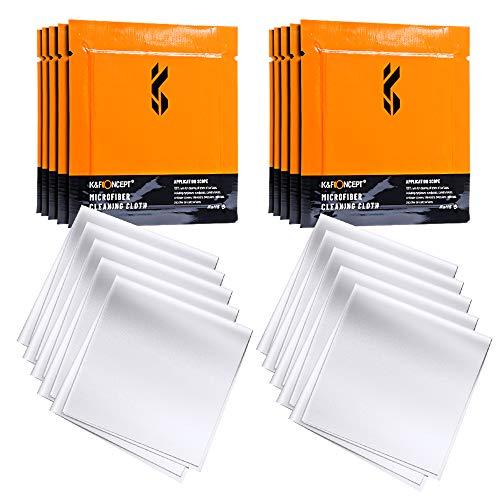 K&F Concept-20 Piezas Paños Limpieza de Microfibra Envasado al Vacío/Secos/Lavables/15×15cm para Gafas/Pantallas/Objetivos/Lentes/PC, Gamuza Gafas, Toallitas Gafas,Bayeta Gafas