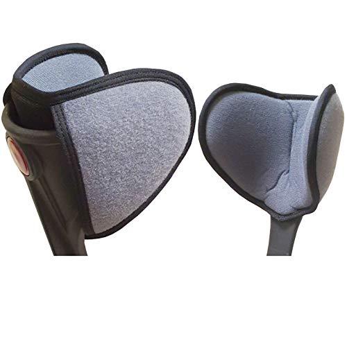 ICEHOF Pads für Gehstützen - Gehhilfe Krücken Unterarmgehstütze - Zubehör Polster gegen Reibung Druck - Kissen Puffer für Ellenbogen Unterarm Oberarm (2 UnterarmPads)