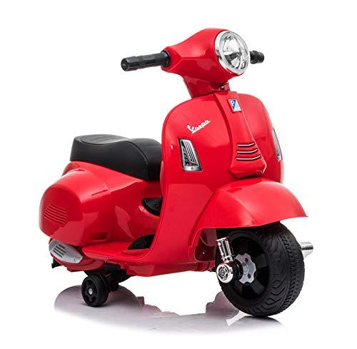 Motoor Kids Mini Moto DE BATERÍA Vespa Scooter, BATERÍA 6V, (Rojo)