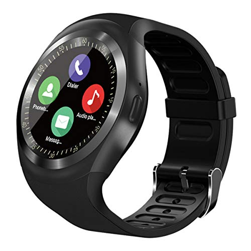 SEPVER Smart Watch SN05 Round Bluetooth Smartwatch with SIM Card Slot Compatible with Samsung LG Sony HTC Huawei Google Xiaomi Android Smart Phones for Women Men Kids Boys Girls