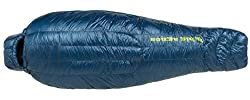 Big Agnes Hitchens UL 20 (850 DownTek) Mummy Sleeping Bag, Regular, Left Zip, Blue