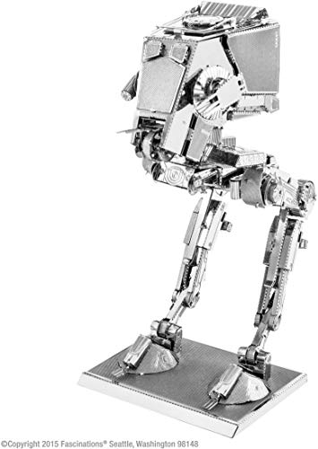 Fascinations Metal Earth MMS261 - 502657, Star Wars AT-ST, Konstruktionsspielzeug, 2 Metallplatinen, ab 14 Jahren