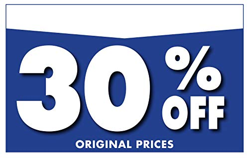 """Adlife Office Retail Store Signs � Card Stock Product Display Signs - Retail Sale Signs/Retail Tags - 'Percentage Off' Retail Signs - 5.5"""" x 3.5"""" Retail Display Signs - 100 Sign Pack Photo #4"""