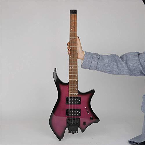 Cutaway Guitarless - Juego de guitarra eléctrica sin cabeza, módulo de bloqueo...
