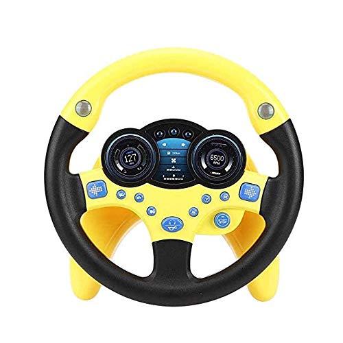 GAO-bo Simulador de Volante de Copiloto de Juguete para Niños, Juguete para Niños, Niñas, Educación Temprana para Niños (Color : A)