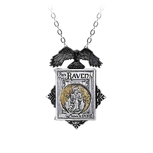 Gothic Anhänger Amulett Edgar Allan Poe Raven Raben zum öffnen