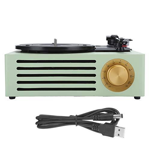 Liccx Tocadiscos de Vinilo, Tocadiscos de Vinilo con Tocadiscos Vintage Bluetooth 5.0, Tocadiscos portátil de Maleta con Bluetooth de 3 velocidades de 33/45/78 RPM