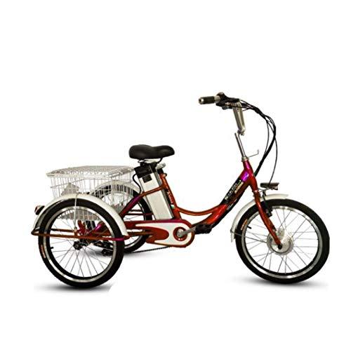 Triciclo Eléctrico Bicicleta De 3 Ruedas Para Adultos 20 Pulgadas Transporte De...