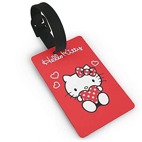 Hello Kitty Red Love Etiquetas para equipaje Etiquetas para maletas Bolsa Accesorios de viaje