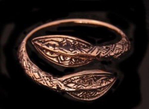 Battle-Merchant Bronzer Wikinger Ring mit Speerspitzen Bronzering LARP Wikinger Mittelalter...