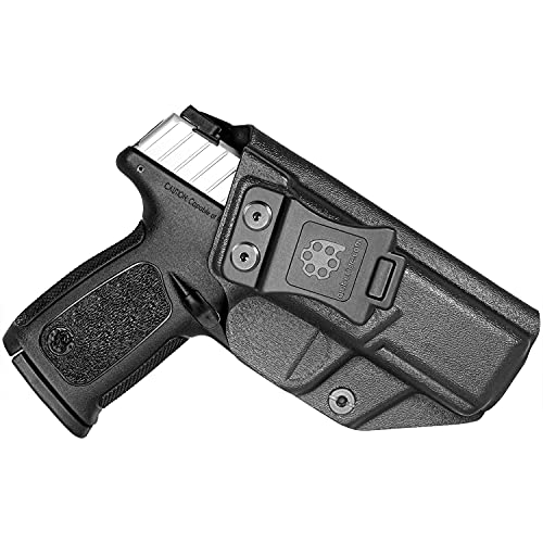 Amberide IWB KYDEX Holster Fit: S&W SD9 VE & SD40 VE Pistol   Inside Waistband   Adjustable Cant   US KYDEX Made (Black, Right Hand Draw (IWB))