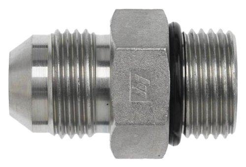 Brennan 6400-06-06-O Steel JIC Flared Tube Fitting, Straight, 3/8