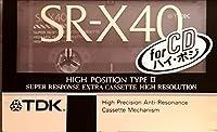 TDK カセットテープ SR-X 40分 ハイパワー ハイポジ SR-X40K