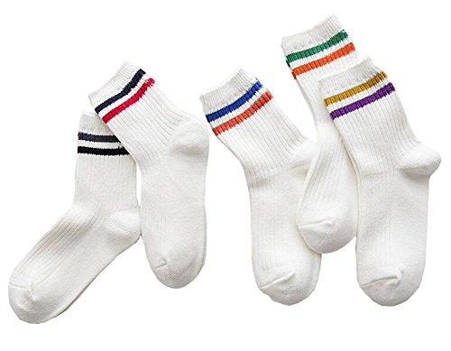 Black Temptation Weiß 5 Paar Frauen Lässige Socken