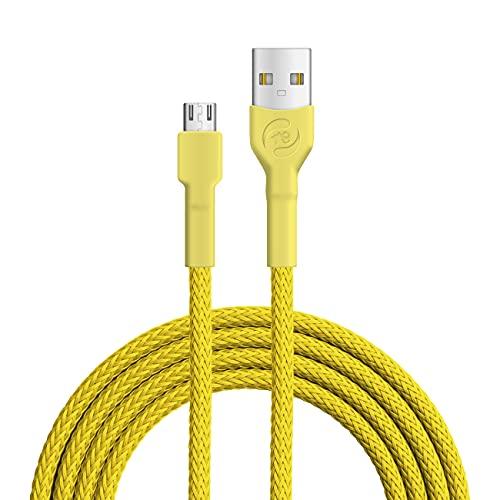 Recable - Cable micro USB (3 m), color amarillo
