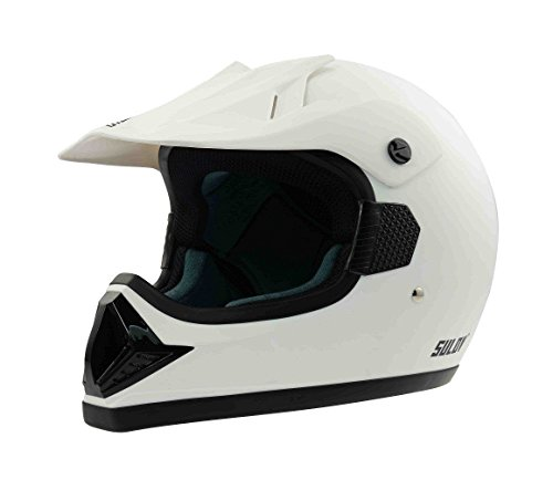 CALTER Casque de Moto Madman, Blanc Mat, M, Helma de Mot de M2