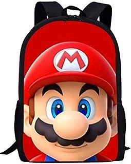 YUNMEI Mario Juguetes Grandes Bolsas Escolares para Niños Mochila Niños Anime Super Mario Bros Impreso Escuela Primaria Bagpack