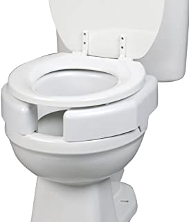 Maddak SP Ableware Elevated Toilet Seat with Open/Closed Front, Secure Bolt