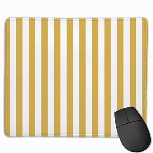 Mauspad/Mauspad mit Cabana-Zelt und Streifen, rutschfest, Gummi, rechteckig, für Schreibtisch, Laptop, Büro