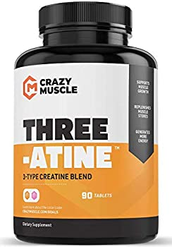 Crazy Muscle Creatine Pills - Keto Friendly Muscle Builder - 1,667 mg Tablets  138% + More Than Capsules  - Over 5 Grams of Monohydrate Pyruvate + AKG - Optimum Strength Bodybuilding Supplements