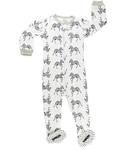 elowel | Pijamas De Nino | Bebé, Pequeño, Ropa De Dormir | 1 Pieza | Algodon | Tamaño: 2 Años (92) | Colro: Gris | Diseño: Cebra
