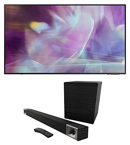 Samsung QN65Q60AA 65' QLED Q60 Series 4K Smart TV Titan Gray with a Klipsch CINEMA-600-SET True 5.1...