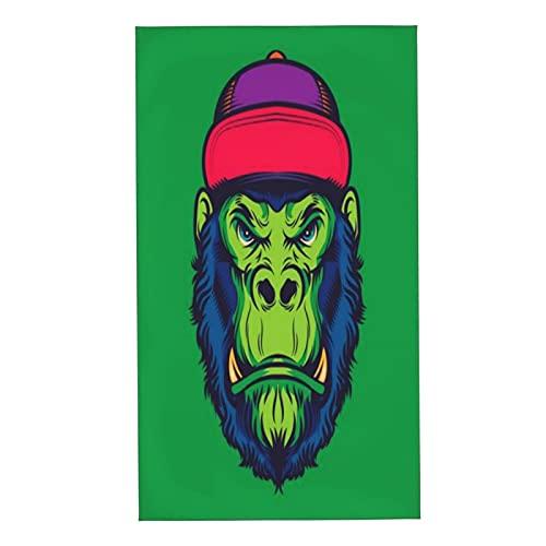 CIKYOWAY Juegos de Toallas Hipster Gorilla Head Old School Tattoo Illustration Toallas de Mano multipropósito para baño,Manos,Cara,Gimnasio y SPA Absorbente Suave 40x70cm