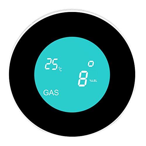 DAUERHAFT APP Remote Rontrol WiFi-Gasdetektor WiFi-Anschluss Brennbarer Gasleckdetektor Gasleckdetektor 100-240V mit akustischem Alarm(European regulations)