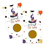 Bewitching Scratch Off Game Cards (28 Pack) Halloween Party Supplies - Wizard - Pumpkin Baby Shower - Spooky Wedding – Raffle Tickets - Business Giveaway - Orange Purple
