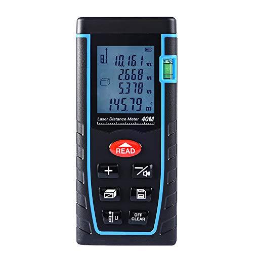 WERNG 40-100M Digital Laser Range Finder, Hand-Held Tape Meetgereedschap, Data Storage, 4 Meetmodi voor Thuis, Bouw, Industrie, Magazijn