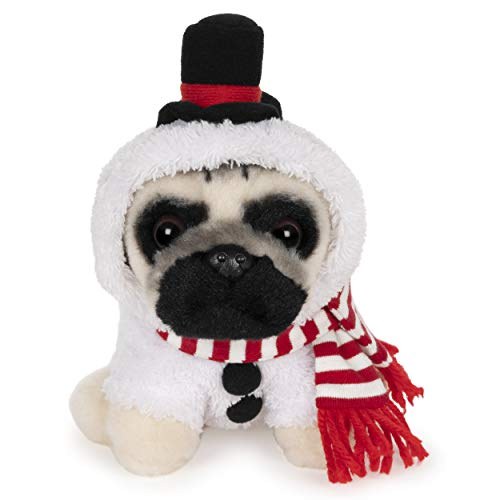 GUND Doug The Pug Snowman Holiday Plush Stuffed Animal Dog, 5""