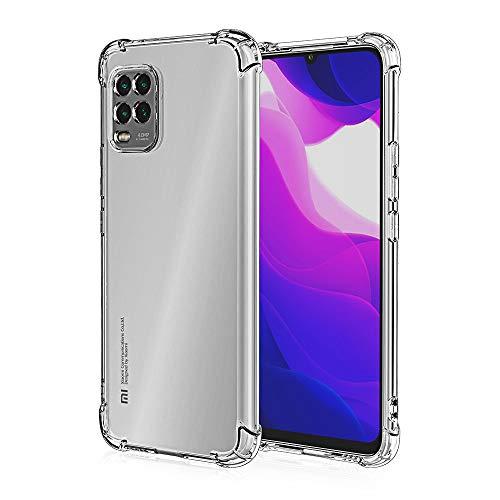 HUUH Funda para Xiaomi Mi 10 Lite 5G/Xiaomi Mi 10 Youth 5G,TPU Ultrafino,Altamente Transparente,no deformable,Duradero,Engrosado en Cuatro Esquinas,Caja del teléfono Anti-caída