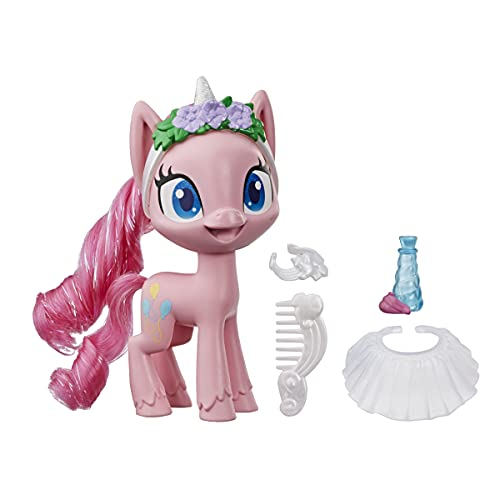 My Little Pony Pinkie Pie Potion Dress Up Figure -- 5-Inch Pink Pony Toy with Dress-Up Fashion Accessories, Brushable Hair and Comb