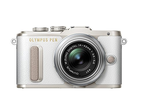 Olympus PEN E-PL8 White Body with 14-42mm IIR Silver Lens