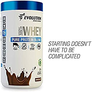 Evolution Whey Protein Powder Blend Grass Fed - 25 Grams of Protein Only 125 Calories - Gluten Produced by Ultrafiltration - Sweetened with Stevia - Hormones Free, Non GMO - (2 Pounds Chocolate)