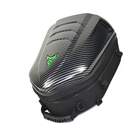iBaste Bolsa trasera para moto, bolsa de moto, bolsa de equipaje de moto, bolsa de asiento trasero rígida, mochila con gran capacidad