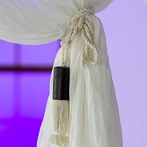 Bali4you 4Bambú borlas Juego para baldaquino etzt antimosquitos–Dosel Protección antimosquitos