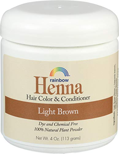 Rainbow Research Henna Hair Color and Conditioner Persian Light Brown, 4 Ounce
