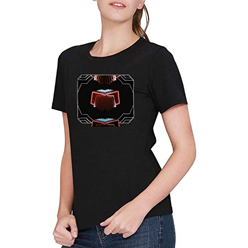 JINFENGT Women's/Damen T-Shirts Arcade Fire Neon Bible T-Shirts Tee Black