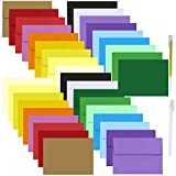 90 Sets 18 Colors A7 Invitations Envelopes 5x7 Envelopes Self Seal with Blank 5x7 Cardstock Flat Cards Bulk DIY Card Making Supplies for Wedding Baby Shower Greeting Announcement Photo Mailing