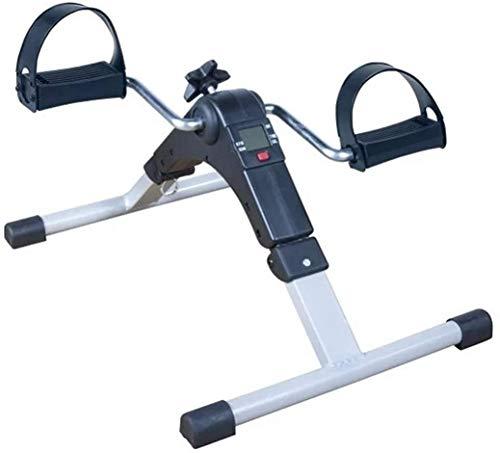 Attrezzo ginnico, mini cyclette da allenamento per bicicletta pratica, mini cyclette per uso domestico, allenatore per gambe allenamento per riabilitazione anziani con display LCD per donne e uomini