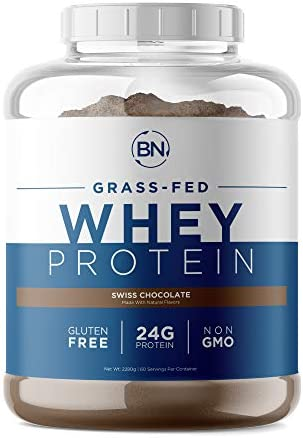 Grass Fed Whey Protein Chocolate 5lb 100 Pure and Natural 5lb 60 Servings 24g Protein Cold Processed product image